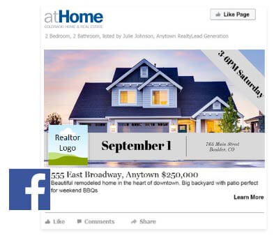 Open Homes on Facebook